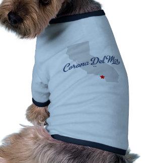 Camisa de Corona del Mar California CA Camiseta De Mascota