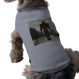 Camisa de cuernos del mascota de Minotaur Camisa De Perro