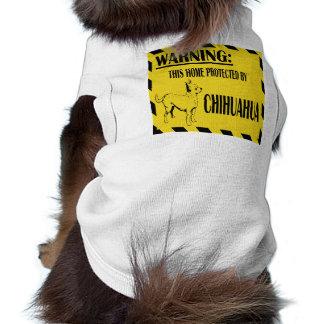 "Camisa de ""cuidado"" del mascota de la chihuahua ropa de perro"
