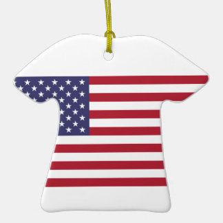 Camisa de deportes de cerámica con la bandera ornamento para reyes magos