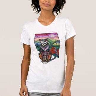 Camisa de Dia de los Muertos Cat