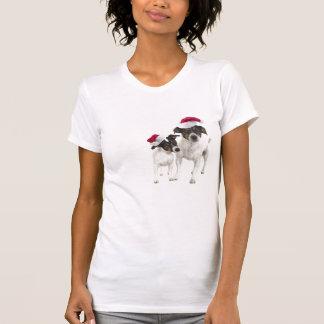 Camisa de dormir lisa del navidad del fox terrier