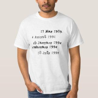 Camisa de encargo de la fecha debida de la
