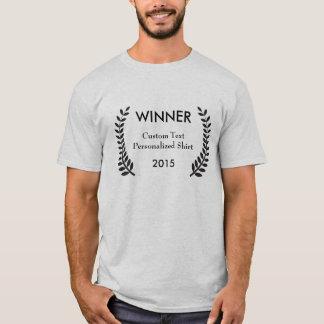 Camisa de encargo de los laureles del ganador del