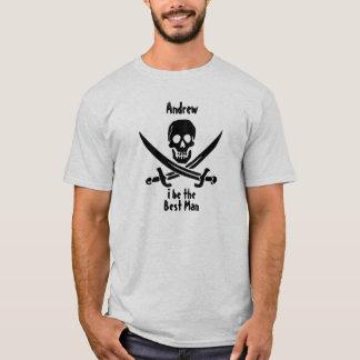 Camisa de encargo del banquete de boda del pirata