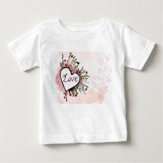 camisa de encargo del bebé del amor