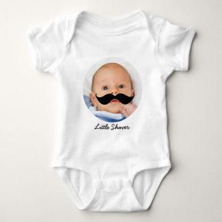 Camisa de encargo del bebé del pequeño bigote