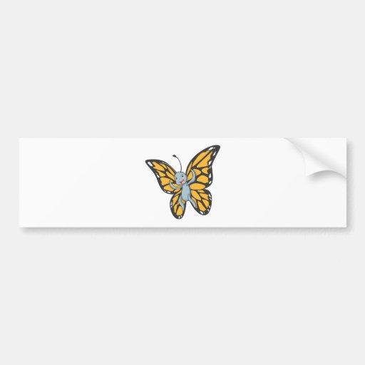 Camisa de encargo del dibujo animado del monarca d etiqueta de parachoque