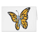 Camisa de encargo del dibujo animado del monarca d tarjeton