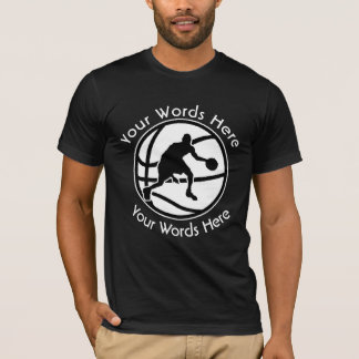 Camisa de encargo del escudo del baloncesto para
