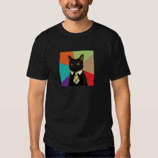 Camisa de encargo del gato del negocio