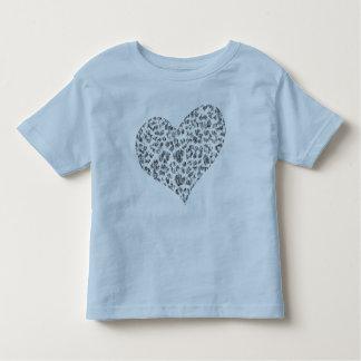 camisa de encargo del niño del corazón del amor