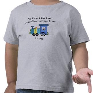 Camisa de encargo del tren del cumpleaños