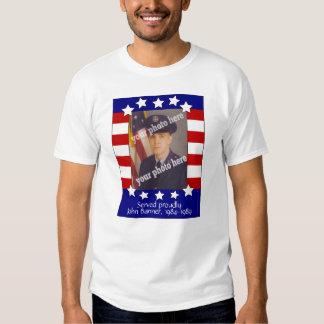 Camisa de encargo patriótica de la foto de las bar