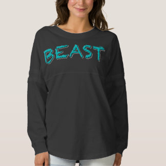 Camisa de gran tamaño del jersey de la bestia
