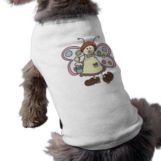 Camisa de hadas del perro del dibujo animado de la playera sin mangas para perro