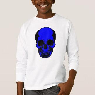 Camisa de Halloween de los niños - cráneo azul