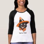 Camisa de Halloween del gato negro del vintage