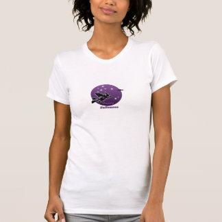 camisa de Halloween del vuelo de la bruja
