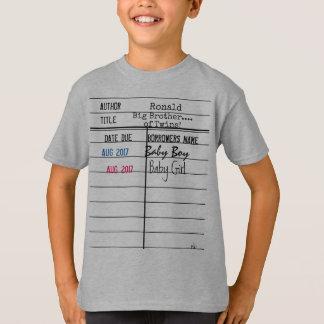Camisa de hermano mayor/de la tarjeta de fecha