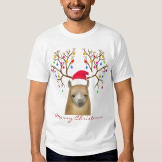 Camisa de la alpaca de las Felices Navidad
