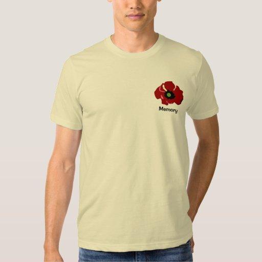 Camisa de la amapola de la flor