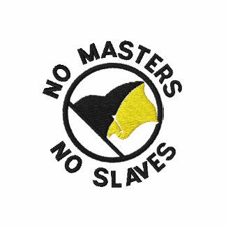 Camisa de la bandera de AnCap Sudadera Bordada Con Capucha