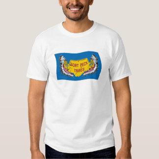Camisa de la bandera de Assiniboine del peck del