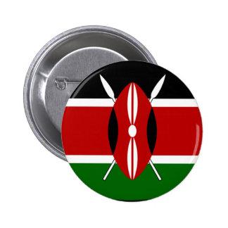 Camisa de la bandera de Kenia Pin Redondo De 2 Pulgadas