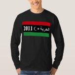 """Camisa de la bandera de la """"libertad"""" de Libia -"""