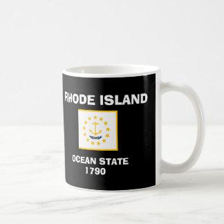 Camisa de la bandera de Rhode Island Taza De Café