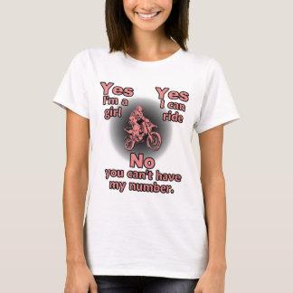 Camisa de la bici de la suciedad - soy sí un chica