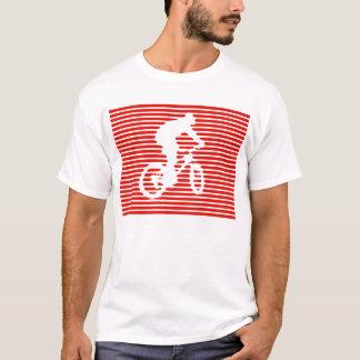 camisa de la bici - líneas rojas