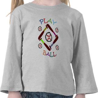 Camisa de la bola del juego de béisbol