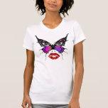 Camisa de la cara de la mariposa