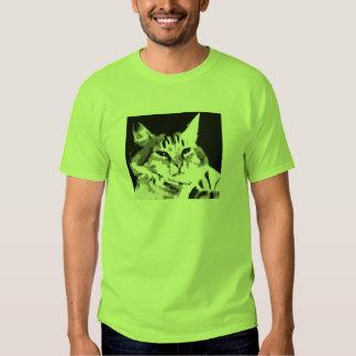 camisa de la cara del gato del teclado