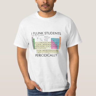 Camisa de la ciencia flunk a estudiantes