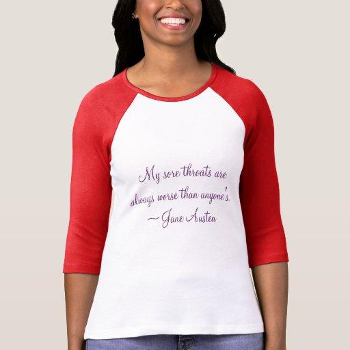 Camisa de la cita de Jane Austen
