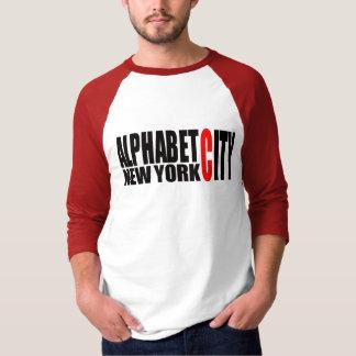 Camisa de la ciudad NYC del alfabeto U59
