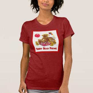 Camisa de la comida campestre del oso de peluche