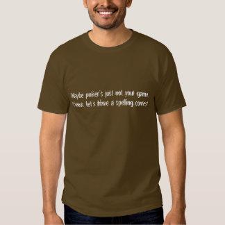 Camisa de la competencia de deletreo de la piedra