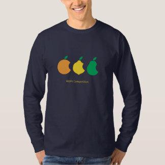 camisa de la competencia de la manzana
