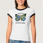 Camisa de la conciencia de ME/CFS con la mariposa