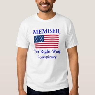 Camisa de la derecha de la conspiración