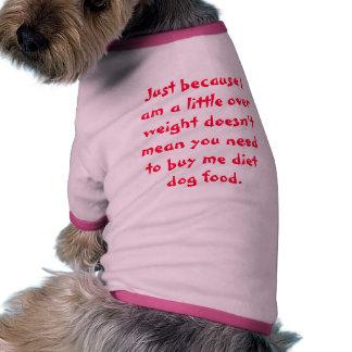 Camisa de la dieta para el perro camisa de perrito