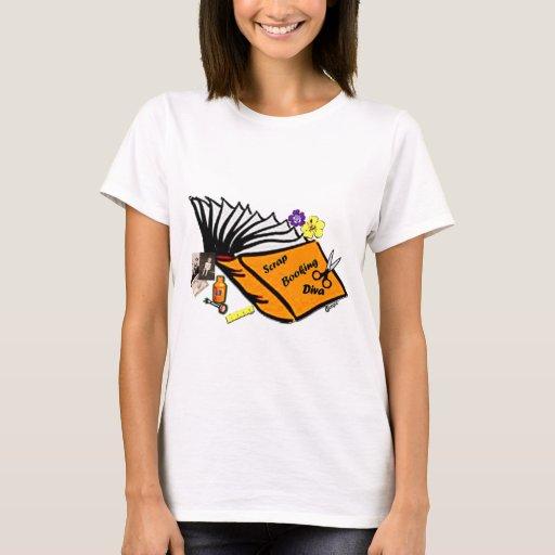 Camisa de la DIVA de SCRAPBOOKING