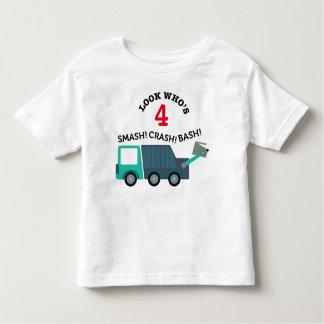 Camisa de la edad del cumpleaños del camión de