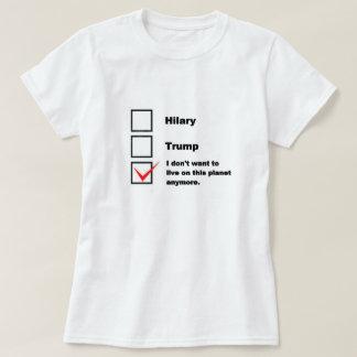 Camisa de la elección. Hilary, triunfo, o ni uno