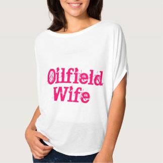 Camisa de la esposa del campo petrolífero