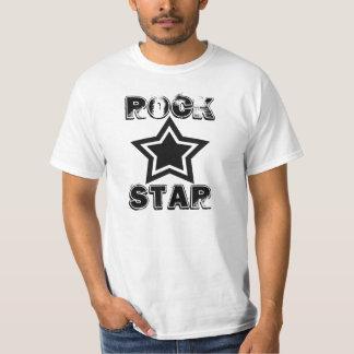 Camisa de la estrella del rock, blanco y negro